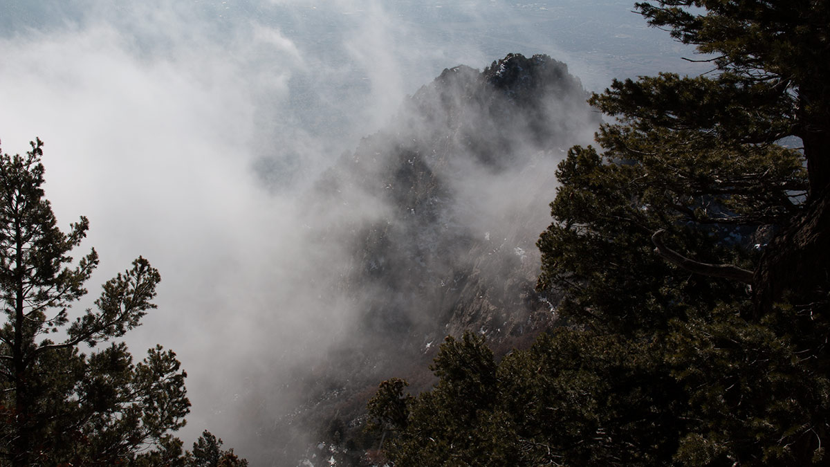 Sandia Summit clouds in winter
